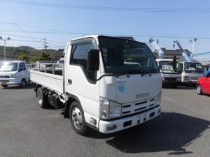 いすゞ エルフトラック フルフラットロー 6速 2トン 平ボデイ ナビ ETC フル装備 ABS