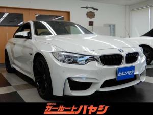 BMW M4 M4クーペ DCT/ドライブロジック/当店所有2オーナー/禁煙車/インテリジェントセイフティ/レーンディパーチャーウォーニング/ヘッドアップディスプレイ/コーナーソナー/HDDナビ/バックカメラ/スペアキ