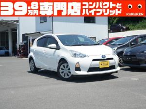 トヨタ アクア S フル装備 Wエアバック カーナビ CD USB バックカメラ オートエアコン ウインカー付ドアミラー