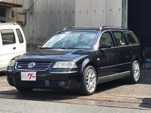 フォルクスワーゲン パサートワゴン W8 4モーション 4WD 左ハンドル ベージュレザーシート 純正17インチアルミ ETC パワーシート 走行5万キロ