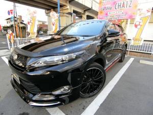 トヨタ ハリアー プレミアムアドPKG モデリスタエアロ20AW SR黒革ナビ