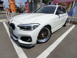 BMW 1シリーズ 118dMスポ 外エアロ外AWローダウン外マフラー赤革調席