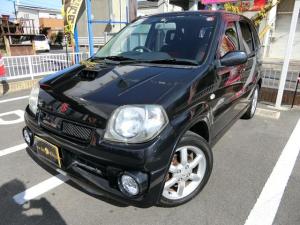 スズキ Keiワークス ベースグレード 5MT ターボ 純正15AW 外品スポーツマフラー 前席レカロシート キーレス CD ETC フル装備 ABS タイミングチェーン式