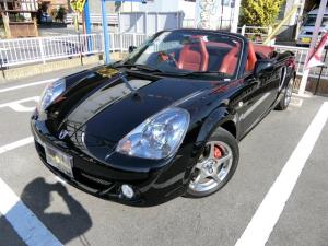 トヨタ MR-S Vエディションファイナルバージョン 6MT 純正15AW ローダウン 赤革シート メモリーナビTV ミッドシップ キーレス フル装備 ABS タイミングチェーン式