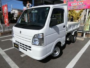 スズキ キャリイトラック 頑丈ダンプ 5MT 4WD 電動ダンプ油圧 低走行 パワステ エアコン エアバック ラジオ タイミングチェーン式