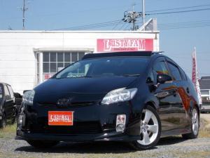 トヨタ プリウス S LEDエディション ソーラーパネル付サンルーフアルパイン9inナビ車高調禁煙車ローダウン 車検うけたて!令和5年5月17日まで!