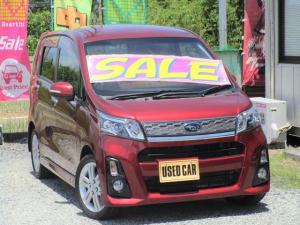 スバル ステラ カスタムRS 4WD ターボ LEDライト 社外地デジナビ 15インチアルミ ETC 半年保証付き