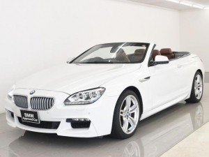 BMW 6シリーズ 650iカブリオレ Mスポーツ ブラウンレザーシート フロントシートヒーター ヘッドアップディスプレイ Mパフォーマンスステアリング 純正HDDナビ 地デジ LEDヘッドライト 純正19AW