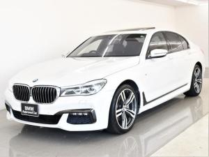 BMW 7シリーズ 740i Mスポーツ 電動サンルーフ 本革 ヘッドアップディスプレイ アクティブクルーズコントロール Harman/Kardonスピーカー トップビュー BMWディスプレイキー オプション20AW