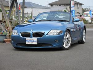 BMW Z4 2.2i 電動オープン 黒革シート&シートヒーター ストレート6 マニュアルモード付5AT  ディスチャージヘッドライト 純正17インチアルミホイール