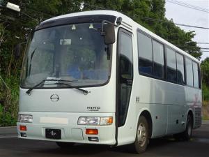 日野 リエッセII  29人乗 バス ETC バックモニター フロント&内部カメラ 天井大型モニター