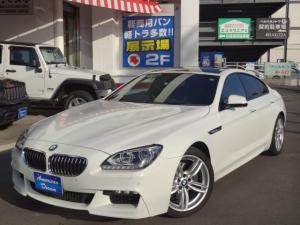 BMW 6シリーズ 640iグランクーペ Mスポーツパッケージ 純正19インチAW ハーフレザーシート パワーシート シートメモリー 純正ナビ バックモニター 前後コーナーセンサー フルセグTV コンフォートアクセス アイドリングストップ ミラー型ETC