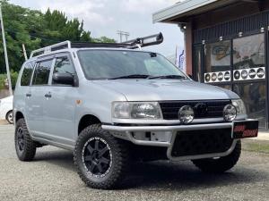 トヨタ プロボックスバン DX 4WD ワンオフFバンパー リフトアップ ルーフキャリア ダーチサイドオーニング 社外タイヤホイル ナビTV シートカバー リア5面フィルム IPFフォグ