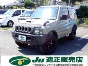 スズキ ジムニー XL オールペンベージュ 黒革調シートカバー 社外アルミ 背面タイヤ オートマ車 4WD