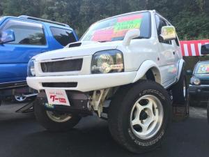 スズキ ジムニー XC ターボ ハーフレザー AT 4WD 社外ステアリング CD AUX ロールバー ルーフレール リフトUP マフラー