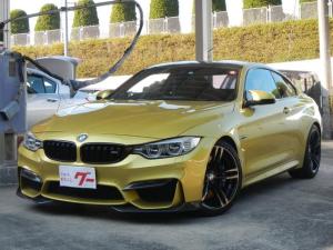 BMW M4 M4クーペ DCTドライブロジック FRカーボン調リップスポイラー FRソナー 純正可変マフラー 19インチAW ブラックレザー電動シート 純正HDDナビ バックカメラ シートヒーター スマートキー