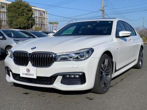 BMW 7シリーズ 740d xDrive Mスポーツ リアコンフォートパッケージ/LEDレーザーヘッドライト/20インチアルミ/パドルシフト/ブラウンレザーシート/電動ムーンルーフ/ハーマンカードン//全方位カメラ&バックモニター/クルーズコントロール