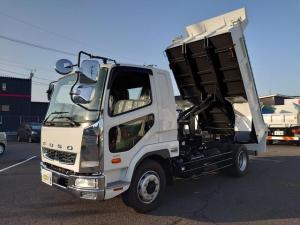 三菱ふそう ファイター 増ダンプ 240馬力 最大積載量7,900kg メッキバンパ- コ-ナ-パネル ミラ-カバ- ロアヘッドライト 増トンダンプ 電動コボレン付き