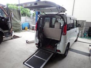 スズキ スペーシア  車椅子スローパー 福祉車両車 両側スライドドア レーダーブレーキサポート キーレス オートエアコン CD