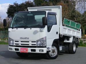 いすゞ エルフトラック 2t 全低床 強化ダンプ 4WD