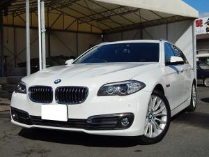BMW 5シリーズ 523iツーリング ラグジュアリー 純正ナビ TV 黒革