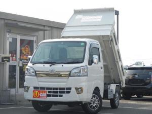 ダイハツ ハイゼットトラック  PTOダンプ 4WD 5速ミッション メモリーナビ フルセグTV 社外アルミホイール キーレス