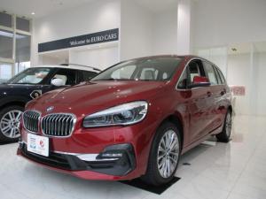 BMW 2シリーズ 218dグランツアラー ラグジュアリー 認定中古車 ディーゼル車 HDDナビ リアビューカメラ ETC LEDライト オイスターレザー ACCアクティブクルーズ ヘッドアップディスプレイ 17インチアルミ パワーリアゲート