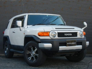 トヨタ FJクルーザー カラーパッケージ ワンオーナー 社外アルミホイール 社外ナビ フルセグTV ETC キーレス 4WD 記録簿