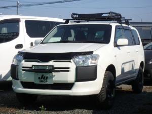 トヨタ サクシード UL-X 4WD リフトアップ ルーフキャリア LEDフロントフォグ マキシスタイヤ SDナビTV バックカメラ Bluetooth接続 ETC