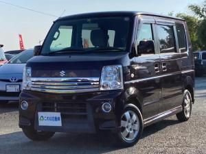 スズキ エブリイワゴン PZターボ 4WD 左側パワースライド シートヒーター HDDナビTV バックカメラ Bluetooth オートエアコン 純正アルミ