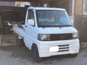 三菱 ミニキャブトラック  4WD エアコン パワーステアリング 新品シートカバー 5速マニュアル車 車検令和4年4月