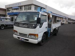 いすゞ エルフトラック ロング 高床 タダノ三段クレーン