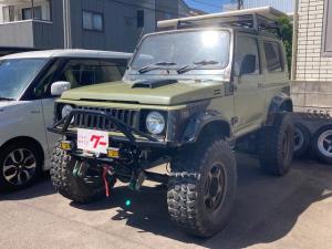 スズキ ジムニー HC 4WD ターボ 5速マニュアル リフトアップ オーバーフェンダー 社外F・Rバンパー グリルガード ルーフキャリア 社外マフラー 社外CDオーディオ