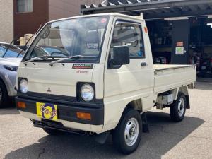 三菱 ミニキャブトラック  4WD 4速マニュアル レトロカー 丸形ライト 実走行 営農用