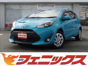 トヨタ アクア GトヨタセーフティセンスLEDライトクルコン革巻きハンドル