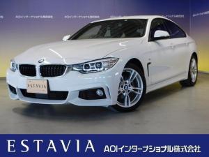 BMW 4シリーズ 420iグランクーペ Mスポーツ 純正ナビフルセグTV 衝突軽減ブレーキ パワーバックドア パワーシート 追従クルコン ブラインドスポット ドラレコ 18インチアルミ HIDオートライト