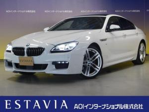 BMW 6シリーズ 640iグランクーペ Mスポーツ 純正ナビ Bカメラ オートライト シートヒーター シートクーラー クルコン カワシート ETC へッドアップディスプレイ サンルーフ パワーシート コンフォートパッケージ 純正20AW