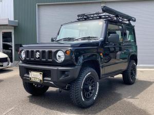 スズキ ジムニー XG 4WD 5速マニュアル 1インチリフトアップ 新品アルミ マッドタイヤ ルーフラック タープ メモリーナビ フルセグTV Bluetooth対応 キーレス 届出済未使用車