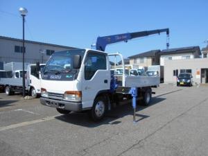 いすゞ エルフトラック タダノ4段クレーンフックイン 2トン 標準ロング