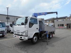 いすゞ エルフトラック タダノ3段ラジコンフックイン 3トンセミロング アルミアオリ