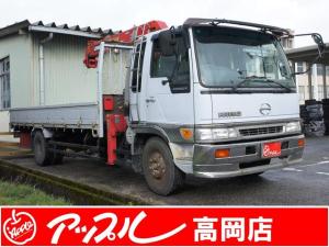 日野 レンジャー 平ボデー 3段クレーン付き 2.3t積 法人買取車両