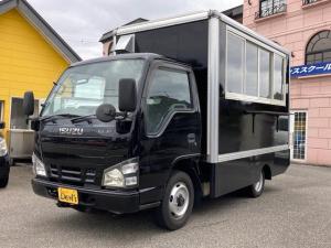 いすゞ エルフトラック  4WD インバーター 加工車 NOx・PM適合車 Bカメラ 外部電源コード LED照明 バックカメラ 換気扇 シンク