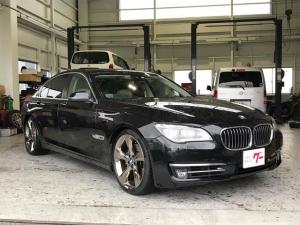 BMW 7シリーズ 740i 白本革 ローダウン 純正21インチアルミ ナビTV