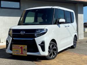 ダイハツ タント カスタムX 登録届け出済み車 全国ダイハツディーラー保証 左パワースライドドア LEDライト 走行距離5キロ