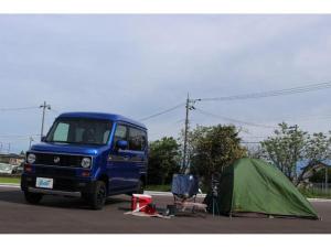 ホンダ N-VAN+スタイル ファン・ターボホンダセンシング 4WD SDナビフルセグTV フェイスチェンジ リフトUPスプリング 社外アルミ新品ブロックタイヤ