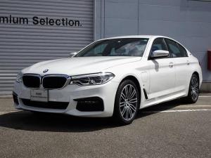 BMW 5シリーズ 530e Mスポーツアイパフォーマンス 認定中古車 黒レザー シートヒーター アクティブクルーズコントロール 前車接近警告 被害軽減ブレーキ 車線逸脱警告 純正ナビ 純正地デジ 電動トランク コンフォートアクセス ヘッドアップディスプレイ