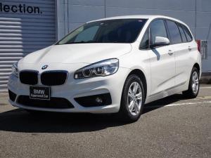 BMW 2シリーズ 218dグランツアラー 電動テールゲート コンフォートアクセス ミラー内蔵型ETC LEDヘッドライト 純正HDDナビ バックカメラ 純正16インチアロイホイール 車線逸脱警告機能 前車接近警告機能 被害軽減ブレーキ
