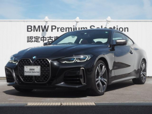 BMW 4シリーズ M440i xDriveクーペ 認定中古車 レッドレザー ガンラスサンルーフ レーザーライト アクティブクルーズコントロール オートマチックハイビーム シートヒーター 前車接近警告 被害軽減ブレーキ 車線逸脱警告 リバースアシスト