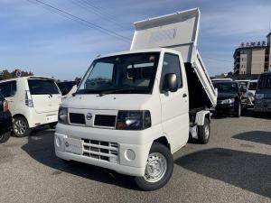 日産 クリッパートラック  ダンプ 4WD エアコン パワステ 5MT 新品タイヤ