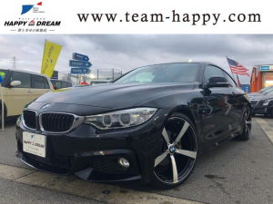 BMW 4シリーズ 420iクーペ Mスポーツ ローダウン 車高調 20インチAW HIDヘッドライト 純正ナビ レーダークルーズ パドルシフト M専用革巻きステアリング アイドリングストップ フォグランプ USB対応